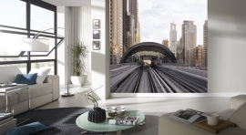 Dutch Fotobehang Dubai trein Kleur