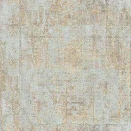Global Fusion Oud Weefsel behang lichtmint turquoise zand 6389