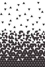 ESTAhome fotobehang grafische driehoeken zwart wit - 158906