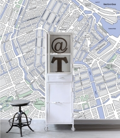 Esta Home Denim & Co. PhotowallXL street map Amsterdam 157712