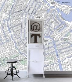 Esta Home PhotowallXL street map Amsterdam 157712
