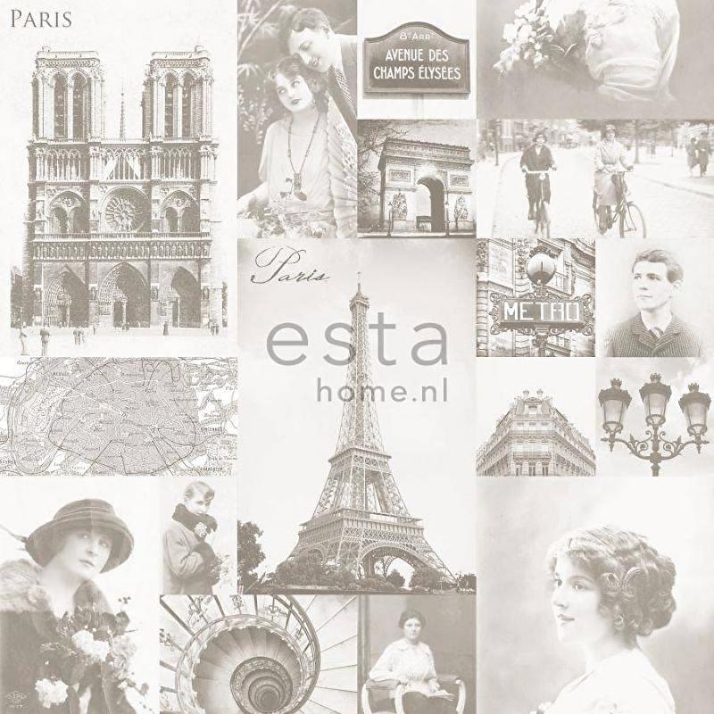 028. Parisfoto's behang lichtbeige 138149
