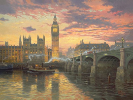 Thomas Kinkade - Evening Mood in London - 1000 stukjes