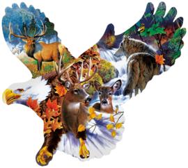 SunsOut 97278 - Forest Eagle - 1000 Vormpuzzel  Vormpuzzel