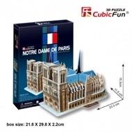 Cubic Fun 3D - Notre Dame de Paris - 40 stukjes