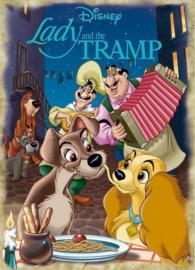 Jumbo Classic Collection - Disney Lady & the Vagebond - 1000 stukjes