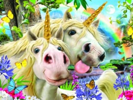 TFF 3D Image Puzzel - Unicorn Selfie - 100 stukjes