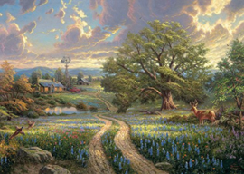 Thomas Kinkade - Country Living - 1000 stukjes