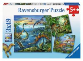Ravensburger - Dinosauries - 3x49 stukjes