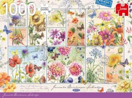 Jumbo Janneke Brinkman - Zomer Bloemen Postzegels  - 1000 stukjes