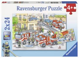 Ravensburger - Helden aan het Werk - 2x24 stukjes  OP=OP