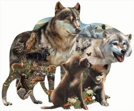 SunsOut 95739  Wolf Pack  1000 stukjes  Vormpuzzel