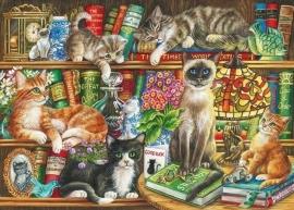 Gibsons 6147 - Puss in Books - 1000 stukjes