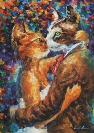 Art Puzzle - Dance of the Cats in Love - 1000 stukjes