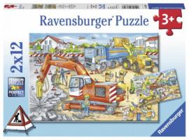 Ravensburger - Pas Op Wegwerkzaamheden - 2x12 stukjes