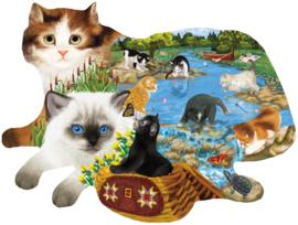 SunsOut 97220 - Fishing Cats - 1000 stukjes  Vormpuzzel
