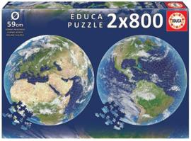 Educa - Planeet Aarde - 2x800 stukjes  Rond