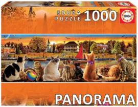 Educa - Katten op de Pier - 1000 stukjes  Panorama
