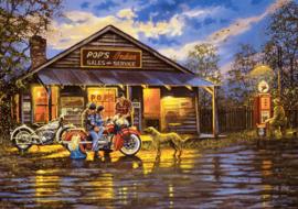 Art Puzzle - Motorcyclist - 1000 stukjes