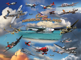 SunsOut 24526 - Classic American Planes - 1000 stukjes