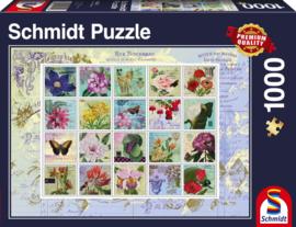 Schmidt - Nostalgische Postzegels - 1000 stukjes