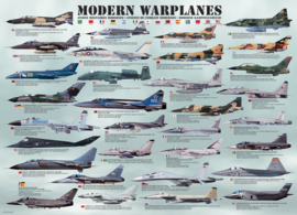 Eurographics 0076 - Modern Warplanes - 1000 stukjes