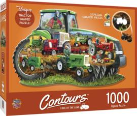 Master Pieces - Tractor - 1000 stukjes  Vormpuzzel