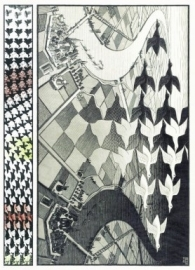 Puzzelman  M.C. Escher - Day and Night - 1000 stukjes