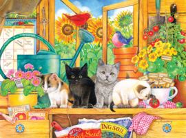 SunsOut 71969 - Potting Shed Kittens - 1000 stukjes