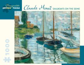 Pomegranate Claude Monet - Sailboats on the Seine - 1000 stukjes