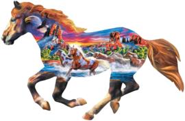 Master Pieces - Running Horse - 1000 stukjes  Vormpuzzel