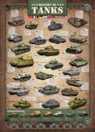 Eurographics 0381 - History of Tanks - 1000 stukjes