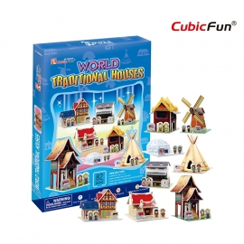 Cubic Fun 3D - World Traditional Houses - 82 stukjes