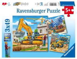 Ravensburger - Grote Bouwvoertuigen - 3x49 stukjes