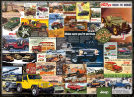 Eurographics 0758 - Jeep Advertising Collection - 1000 stukjes