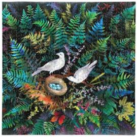 eeBoo - Birds in Fern - 1000 stukjes