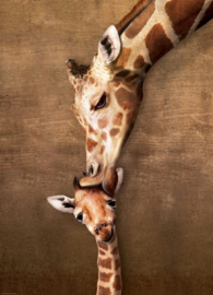 Eurographics 0301 - Giraffe Mother's Kiss - 1000 stukjes