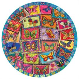 eeBoo - Vintage Butterflies - 500 stukjes
