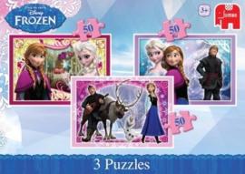 Jumbo 17441 Disney Frozen 3x50 stukjes