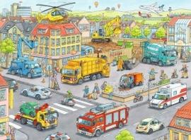 Ravensburger - Voertuigen in de Stad - 100XXL stukjes