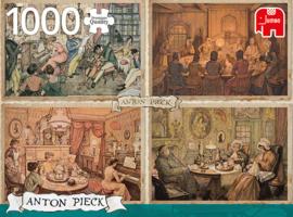 Anton Pieck - Huiskamer Entertainment - 1000 stukjes