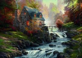 Thomas Kinkade - Cobblestone Mill - 1000 stukjes