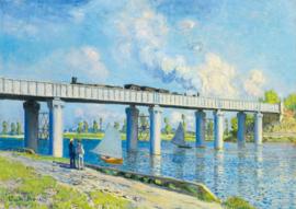 Bluebird Claude Monet - Railway Bridge at Argenteuil - 1000 stukjes