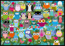 Schmidt - Collage of Owls II - 1000 stukjes