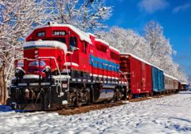 Bluebird - Red Train in the Snow - 1500 stukjes