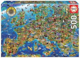 Educa - Crazy European Map - 500 stukjes