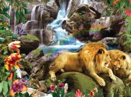 SunsOut 48466 - Love Lion Waterfall - 1000 stukjes