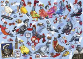 Gibsons 6607 - Pigeons of London - 1000 stukjes