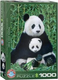Eurographics 0173 - Panda & Baby - 1000 stukjes
