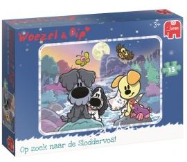 Jumbo - Woezel & Pip - Op Zoek Naar de Sloddervos - 15 stukjes